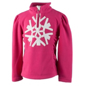 Obermeyer Snowcrystal Fleece Toddler Girls Midlayer, Glamour Pink, medium