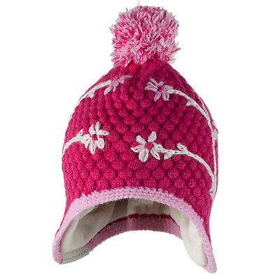 Obermeyer Flower Pop Knit Toddler Girls Hat, Glamor Pink, viewer