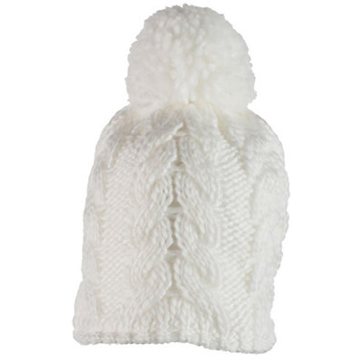 Obermeyer Livy Knit Toddler Girls Hat, White, viewer