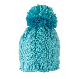 Obermeyer Livy Knit Toddler Girls Hat, Sparkle Blue, 256
