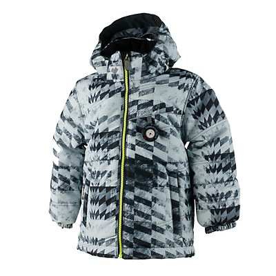 Obermeyer Stealth Toddler Boys Ski Jacket, Grey Coat Of Arms, viewer