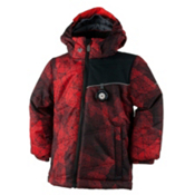 Obermeyer Stealth Toddler Boys Ski Jacket, Red Mesh Print, medium