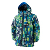 Obermeyer Stealth Toddler Boys Ski Jacket, Moving Squares, medium