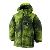 Obermeyer Stealth Toddler Boys Ski Jacket, Green Mesh Print, medium