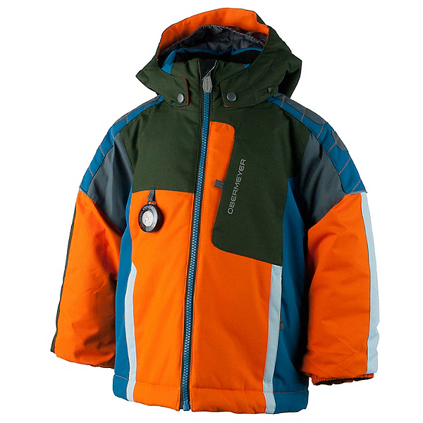 Obermeyer Blaster Toddler Boys Ski Jacket, Tangerine, 600