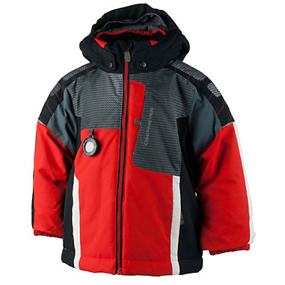 Obermeyer Blaster Toddler Ski Jacket, Tangerine, viewer