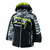 Obermeyer Tomcat Toddler Boys Ski Jacket, Black, medium