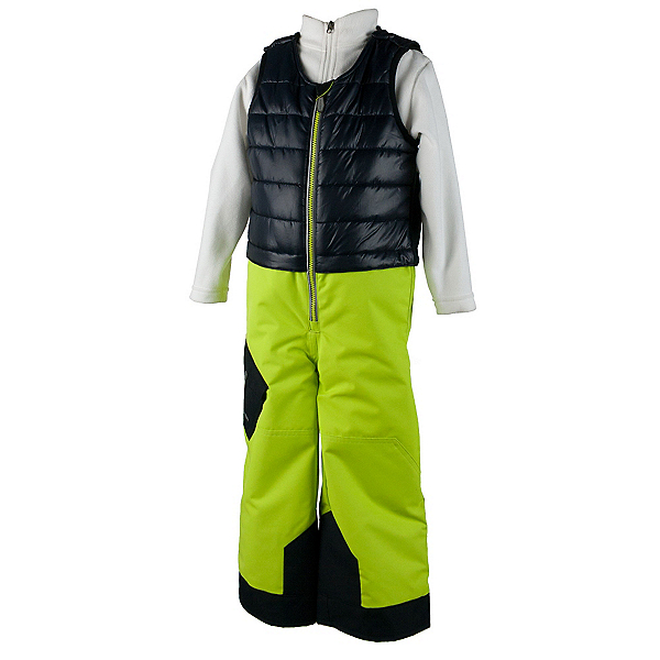 Obermeyer Chilkat Toddler Boys Bib, Screamin Green, 600