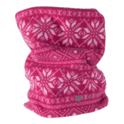 Obermeyer Steeps Pro 100WT Teen Neck Warmer, Pink Snowflake, medium