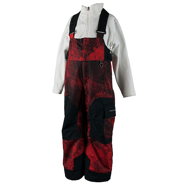 Obermeyer Volt Print Toddler Boys Ski Pants, Red Mesh Print, 600