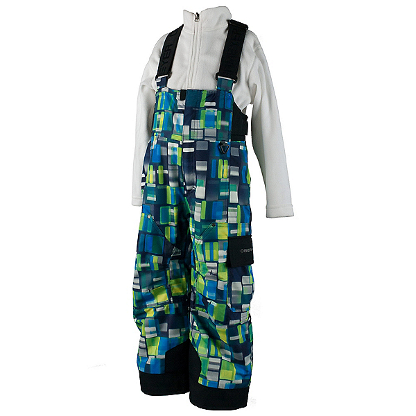 Obermeyer Volt Print Toddler Boys Ski Pants, Moving Squares, 600