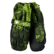 Obermeyer Puffy Toddler Boys Mittens, Green Mesh Print, medium