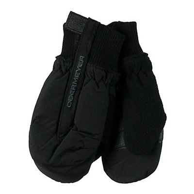 Obermeyer Thumbs Up Toddler Boys Mittens, Black, viewer
