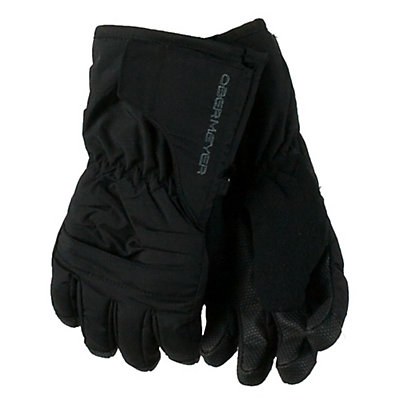 Obermeyer Gauntlet Toddlers Gloves, Black, viewer