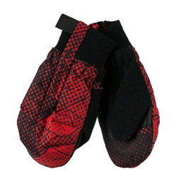Obermeyer Thumbs Up Print Toddler Boys Mittens, Red Mesh Print, 256