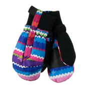 Obermeyer Thumbs Up Print Toddler Girls Mittens, Scribble Stripe, medium