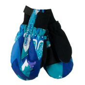 Obermeyer Thumbs Up Print Toddler Girls Mittens, Blue Mountains, medium