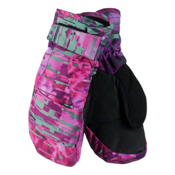 Obermeyer Radiator Teen Girls Mittens, Digi Floral, medium