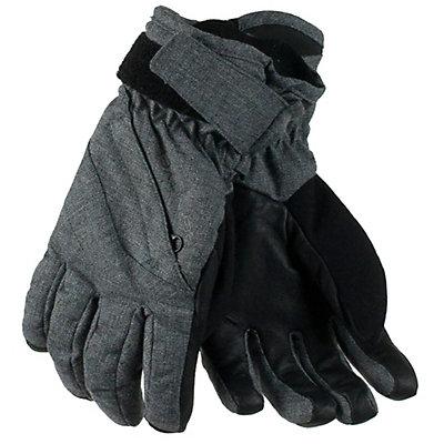 Obermeyer Cornice Teen Boys Gloves, Light Heather Grey, viewer