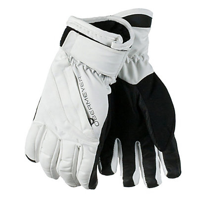 Obermeyer Cornice Teen Girls Gloves, White, viewer
