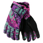 Obermeyer Cornice Teen Girls Gloves, Digi Floral, medium