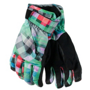 Obermeyer Cornice Teen Girls Gloves, Plaid Haze, medium