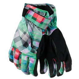 Obermeyer Cornice Teen Girls Gloves, Plaid Haze, 256