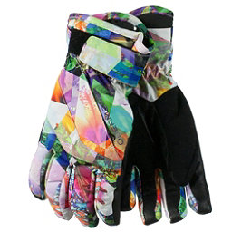 Obermeyer Cornice Teen Girls Gloves, Chevron Floral, 256