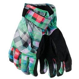 Obermeyer Cornice Girls Gloves 2017, Plaid Haze, 256