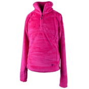 Obermeyer Furry Fleece Top Teen Girls Midlayer, Electric Pink, medium