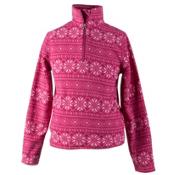 Obermeyer Bomber Pro 100WT Teen Girls Long Underwear Top, Pink Snowflake, medium