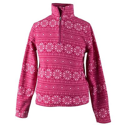 Obermeyer Bomber Pro 100WT Teen Girls Long Underwear Top, Pink Snowflake, viewer