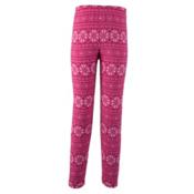 Obermeyer First Tracks Pro 100 Teen Girls Long Underwear Bottom, Pink Snowflake, medium