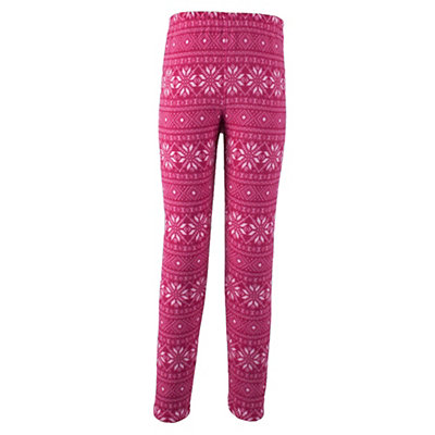 Obermeyer First Tracks Pro 100 Teen Girls Long Underwear Bottom, Pink Snowflake, viewer