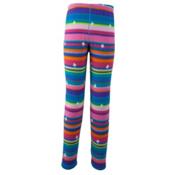 Obermeyer First Tracks Pro 100 Teen Girls Long Underwear Bottom, Scribble Stripe, medium