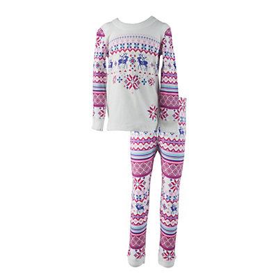 Obermeyer Oberundies Set Girls Long Underwear Top, Sugar Berry, viewer
