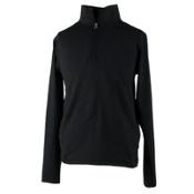 Obermeyer Wildcat Sport 75WT Teen Boys Long Underwear Top, Black, medium