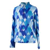Obermeyer Wildcat Sport 75WT Teen Boys Long Underwear Top, Blue Mountains, medium