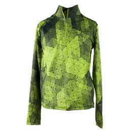 Obermeyer Wildcat Sport 75WT Teen Boys Long Underwear Top, Green Mesh Print, 256