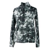 Obermeyer Wildcat Sport 75WT Teen Girls Long Underwear Top, Blackout Floral, medium