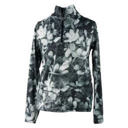 Obermeyer Wildcat Sport 75WT Teen Girls Long Underwear Top, Blackout Floral, 256