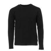 Obermeyer Trestle Sport 75WT Crew Teen Boys Long Underwear Top, Black, medium