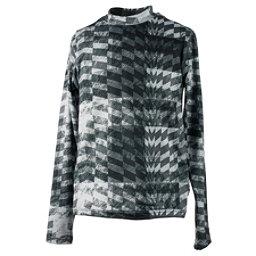 Obermeyer Trestle Sport 75WT Crew Teen Boys Long Underwear Top, Grey Coat Of Arms, 256