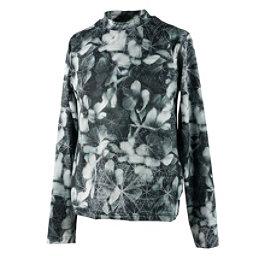 Obermeyer Trestle Sport 75WT Crew Teen Girls Long Underwear Top, Blackout Floral, 256