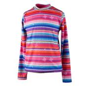 Obermeyer Trestle Sport 75WT Crew Teen Girls Long Underwear Top, Scribble Stripe, medium