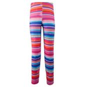 Obermeyer Bearclaw Sport 75 WT Tight Teen Girls Long Underwear Bottom, Scribble Stripe, medium