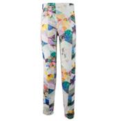 Obermeyer Bearclaw Sport 75 WT Tight Teen Girls Long Underwear Bottom, Chevron Floral, medium