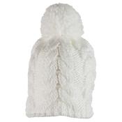 Obermeyer Livy Knit Kids Hat, White, medium