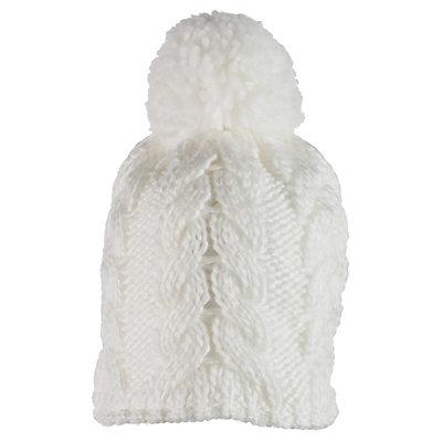 Obermeyer Livy Knit Kids Hat, White, viewer
