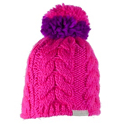 Obermeyer Livy Knit Kids Hat, Electric Pink, medium